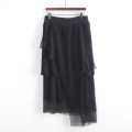 skirt Autumn 2020 S,M,L black Short skirt commute Natural waist A-line skirt lattice Type A Button