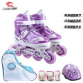 Tandem wheel Pink dark blue purple S (31-34) is suitable for ordinary shoe size M (35-38) and for ordinary shoe size 3 L (39-42) child Jaguar casual shoes Flat type