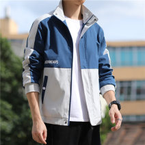 Jacket JXAETE Youth fashion Nh-9335 black nh-9335 blue nh-9335 green M L XL XXL XXXL routine standard Other leisure autumn NH-9335NH Polyester 100% Long sleeves Wear out stand collar tide youth routine Zipper placket Rib hem washing Closing sleeve other polyester fiber Autumn 2020 Zipper decoration