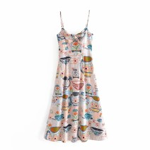 Dress Summer 2021 As shown in the figure S,M,L Mid length dress singleton  street camisole 18-24 years old Europe and America