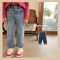 trousers UTOUTO female 80cm, 90cm, 110cm, 120cm, 130cm, 140cm, 100cm (model try on) Dark blue, light blue spring and autumn trousers leisure time There are models in the real shooting Jeans other 2 years old, 3 years old, 4 years old, 5 years old, 6 years old, 7 years old, 8 years old