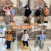 T-shirt Lactose white, sky blue, Coral Orange, cherry powder, classic black UTOUTO 80cm, 90cm, 110cm, 120cm, 130cm, 140cm, 100cm (model size) female Long sleeves Crew neck leisure time There are models in the real shooting nothing other other