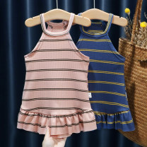 Dress 622 pink, 622 blue, 622 khaki, 801 blue, 801 yellow female Other / other 80, 90, 100, 110, 120, 130 Other 100% summer fresh Skirt / vest stripe cotton Pleats FHW622 9 months, 18 months, 2 years, 3 years, 4 years, 5 years, 6 years