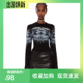 T-shirt black XS,S,M Autumn 2020 Long sleeves Crew neck Self cultivation Regular routine street cotton 96% and above 18-24 years old originality Geometric patterns, letters, gradients T90865 printing Europe and America