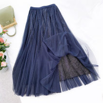 skirt Autumn 2020 Average size Short skirt grace A-line skirt stripe 25-29 years old 71% (inclusive) - 80% (inclusive) other Englard / Eagle Splicing, mesh