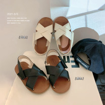 Sandals Chen Chen's mother Neutral, male, female Microfiber skin White, black 22, 23, 24, 25, 26 - Koko, 27, 28, 29, 30, 31 summer Barefoot rubber children XB066