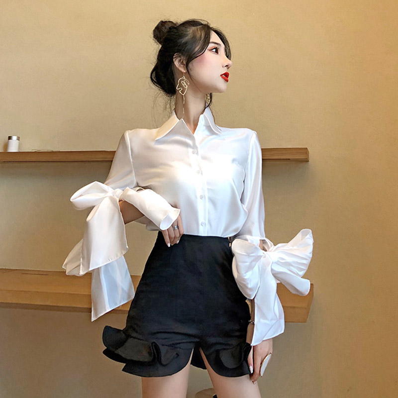 shirt White shirt black shirt Average size Autumn of 2018 other 30% and below Long sleeves commute Regular Single row multi button Solid color