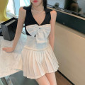 skirt Summer 2021 M. S, one size fits all White pleated skirt, white coat, black pleated skirt, black coat Short skirt Versatile High waist Pleated skirt Solid color Type A 18-24 years old 31% (inclusive) - 50% (inclusive) other Other / other polyester fiber