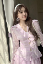 Fashion suit Other / other 30% and below polyester fiber Summer 2021 Skirt, coat S. M, average size