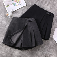 Casual pants Dark grey, black XL (100-120 kg recommended), 2XL (120-140 kg recommended), 3XL (140-150 kg recommended), 4XL (150-170 kg recommended), 5XL (170-200 kg recommended) Summer 2021 shorts Straight pants High waist commute routine 8—31 Ocnltiy polyester fiber Korean version Button