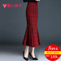 skirt Winter of 2019 19/S 20/M 21/L 22/XL 23/XXL 24/3XL 25/4XL Black gray lattice red lattice small thousand bird lattice large lattice dark red dark black white background black lattice longuette commute Natural waist skirt lattice Type X Y1908QZ5598 71% (inclusive) - 80% (inclusive) Light tweed