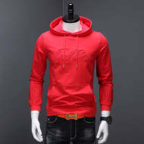 Sweater Youth fashion Others M,L,XL,2XL,3XL,4XL,5XL,6XL,7XL originality Socket routine Hood autumn Slim fit Large size Cotton polyester Cotton 95% polyurethane elastic fiber (spandex) 5% cotton 90% (inclusive) - 95% (inclusive) Kangaroo pocket