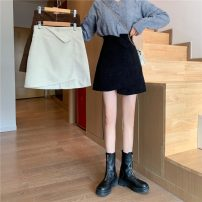 skirt Winter 2020 S [recommended 80-90 kg], m [recommended 90-100 kg], l [recommended 100-120 kg], XL [recommended 120-140 kg], 2XL [recommended 140-160 kg], 3XL [recommended 160-180 kg], 4XL [recommended 180-200 kg] Apricot, black, coffee Short skirt commute High waist A-line skirt Solid color