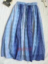 skirt Spring 2021 M Vertical bar stars