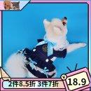 Pet clothing / raincoat currency Dress XS,S,M,L,XL Doug princess Red, blue pure cotton