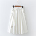skirt Summer 2021 Average size White, black Mid length dress fresh High waist A-line skirt other Type A 18-24 years old 91% (inclusive) - 95% (inclusive) other cotton Embroidery