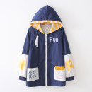 short coat Autumn of 2019 S,M,L Navy Blue Long sleeves routine routine singleton  easy commute routine Hood zipper Cartoon animation 18-24 years old 96% and above other polyester fiber