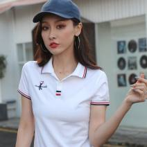 T-shirt null XL,L,M,XXL,XXXL Summer of 2019 Short sleeve Polo collar commute 18-24 years old originality letter printing
