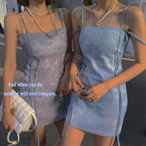 Dress Spring 2021 Blue, dark gray, prompt: limited time 8 fold up, blue (second batch), dark gray (second batch) S,M,L singleton  street other camisole 25-29 years old LWJF21PQ0008 30% and below other