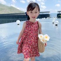 Dress gules female EYAE KIDS 90cm,100cm,110cm,120cm,130cm,140cm Cotton 90% other 10% summer Korean version Skirt / vest Broken flowers cotton other Q21153 Class B Three, four, five, six, seven, eight, nine Chinese Mainland Zhejiang Province Hangzhou