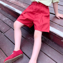 trousers EYAE KIDS female 90cm,100cm,110cm,120cm,130cm,140cm gules summer shorts Korean version There are models in the real shooting Casual pants Leather belt middle-waisted other Don't open the crotch Other 100% K21169 Class B Three, four, five, six, seven, eight, nine Chinese Mainland Hangzhou