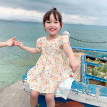 Dress Decor female EYAE KIDS 90cm,100cm,110cm,120cm,130cm,140cm Cotton 90% other 10% summer leisure time Short sleeve Broken flowers cotton other Q0207 Class B Three, four, five, six, seven, eight, nine Chinese Mainland Zhejiang Province Hangzhou