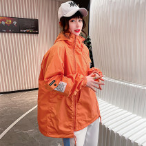 short coat Spring 2021 [38] m (recommended weight 85-120 kg), [40] l (recommended weight 121-145 kg), [42] XL (recommended weight 141-160 kg) White, green, yellow, black, pink, orange Long sleeves have cash less than that is registered in the accounts Thin money singleton  easy commute routine Hood