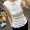 T-shirt Black, white Summer of 2019 Sleeveless Crew neck Straight cylinder Regular routine commute other 30% and below Korean version