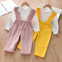 suit Other / other female summer leisure time Long sleeve + pants 2 pieces routine No model Single breasted nothing Solid color cotton children Expression of love Y2042 Class B Cotton 90% other 10% 9 months, 18 months, 2 years, 3 years, 4 years, 5 years Chinese Mainland Guangdong Province Foshan City