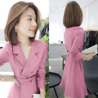 Dress Spring 2021 Pink, yellow, green, lake blue S,M,L,XL Mid length dress Fake two pieces Long sleeves street tailored collar middle-waisted Solid color other A-line skirt routine Others 30-34 years old Type H Fanlis F193t05162p 51% (inclusive) - 70% (inclusive) other other Europe and America