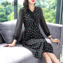 Women's large Spring 2021 Black pre-sale (delivery 13 days after payment) black M (recommended 100-113 kg) l (recommended 115-125 kg) XL (recommended 125-140 kg) 2XL (recommended 140-155 kg) 3XL (recommended 155-170 kg) Dress singleton  commute Socket Simplicity Three dimensional cutting AP21C21070