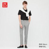 Sling / vest / T-shirt 160/85/XS 165/90/S 170/95/M 175/100/L 180/105/XL 185/110/XXL 185/115/XXXL 185/120/XXXXL 00 white 08 dark grey 09 black 69 Navy male UNIQLO / UNIQLO UQ423527000 summer Cotton 71% polyester 25% polyurethane elastic fiber (spandex) 4% Summer 2020