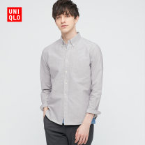 shirt other UNIQLO / UNIQLO 160/76A/XS 165/84A/S 170/92A/M 175/100A/L 180/108B/XL 185/112C/XXL 185/120C/XXXL 185/128C/XXXXL routine other Long sleeves standard Other leisure Cotton 100% Spring 2021 Same model in shopping mall (sold online and offline)