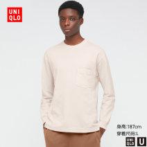 T-shirt other 32 Dark Beige routine 160/76A/XS 165/84A/S 170/92A/M 175/100A/L 180/108B/XL 185/112C/XXL 185/120C/XXXL 185/128C/XXXXL UNIQLO / UNIQLO Long sleeves Crew neck standard Other leisure Cotton 100% Spring 2021