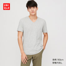 T-shirt other 00 white 03 grey 08 dark grey 09 black 56 olive 69 Navy routine 160/76A/XS 165/84A/S 170/92A/M 175/100A/L 180/108B/XL 185/112C/XXL 185/120C/XXXL 185/128C/XXXXL UNIQLO / UNIQLO Short sleeve V-neck standard Other leisure spring UQ427916000 Cotton 66% polyester 34% Spring 2020