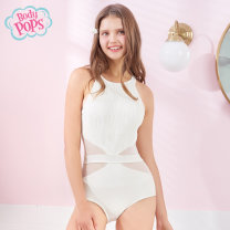 one piece  body pops S M L Royal Blue 63 Ivory 39 Triangle one piece swimsuit With chest pad without steel support BCAR912A81 Spring of 2019 yes Sleeveless Hollowing out