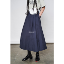 skirt Spring 2021 S, M Navy blue, cream grey Mid length dress commute High waist other Solid color 71% (inclusive) - 80% (inclusive) other other Korean version