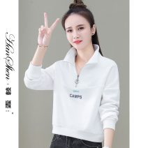 Sweater / sweater Spring 2021 White, blue, pink, orange M [recommended 80-100 Jin], l [recommended 100-110 Jin], XL [recommended 110-120 Jin], XXL [recommended 120-135 Jin], 3XL [recommended 135-150 Jin] Long sleeves routine Cardigan singleton  routine Hood easy commute routine Solid color cotton