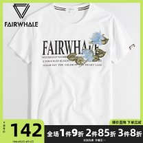 T-shirt Youth fashion white routine 165/S 170/M 175/L 180/XL 185/XXL 190/XXXL Mark Fairwhale / mark Warfield Short sleeve Crew neck standard daily summer Cotton 100% youth routine tide Sweat cloth Summer of 2019 Plants and flowers Embroidery cotton Plants and flowers Domestic famous brands