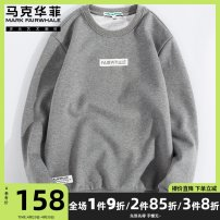 Sweater Youth fashion Mark Fairwhale / mark Warfield Medium grey 1 pure black 1 black simple grey simple black hooded simple 165/S 170/M 175/L 180/XL 185/XXL 190/XXXL other Socket routine Crew neck spring easy leisure time youth tide routine Terry cloth Cotton 72% polyester 28% cotton printing