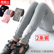 trousers NGGGN female 100cm 110cm 120cm 130cm spring and autumn trousers leisure time There are models in the real shooting Leggings Leather belt middle-waisted blending Don't open the crotch Viscose fiber (viscose fiber) 67.2% polyamide fiber (nylon) 31.2% polyurethane elastic fiber (spandex) 1.6%