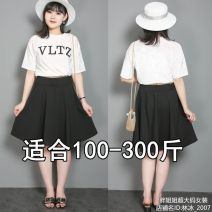 skirt Summer 2020 Black (priority for collection) Short skirt Pleated skirt Solid color 25-29 years old knitting