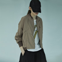 short coat Spring of 2019 S M XL 1L Windy green black Khaki windy green second batch Khaki second batch black second batch Long sleeves routine routine singleton  easy commute other stand collar zipper other 25-29 years old The sun is shining 96% and above Embroidered pocket thread 19C8909W nylon
