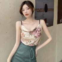 Fashion suit Summer 2021 S. M, average size Floral sling, split skirt 18-25 years old three point three one 96% and above