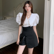 Fashion suit Summer 2021 S. M, average size White shirt, black skirt 18-25 years old four point one zero 81% (inclusive) - 90% (inclusive)