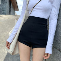Fashion suit Spring 2021 S. M, l, average size White top, black shorts 18-25 years old four point two five