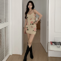 Dress Summer 2021 Picture color Average size Short skirt singleton  Sleeveless commute High waist Socket One pace skirt camisole 18-24 years old Type A Korean version Four point nine More than 95% other