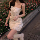 Fashion suit Spring 2021 Average size Bowknot bra, short skirt with ear edge 18-25 years old three point one six 31% (inclusive) - 50% (inclusive) polyester fiber