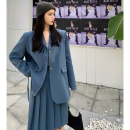 Fashion suit Summer 2021 S,M,L Retro Blue Suit , Retro Blue Skirt 18-25 years old Four point seven 51% (inclusive) - 70% (inclusive)