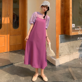 Fashion suit Summer 2021 Average size Top: white, top: purple, suspender skirt: black, suspender skirt: purple 18-25 years old four point one three 96% and above polyester fiber
